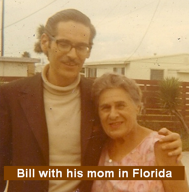 Bill Evans with his Mom in Florida