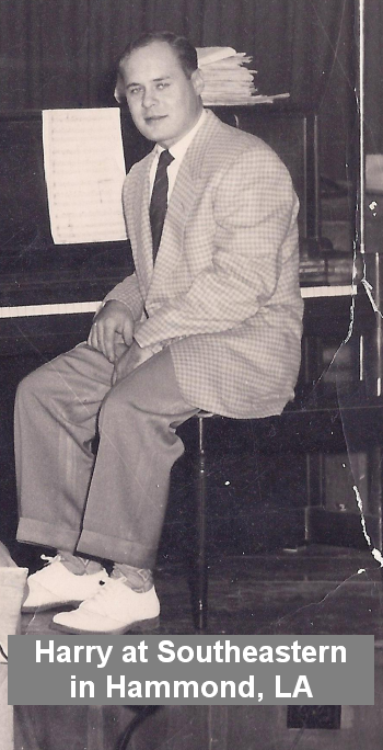 Harry Evans played in a Big Band at Southeastern